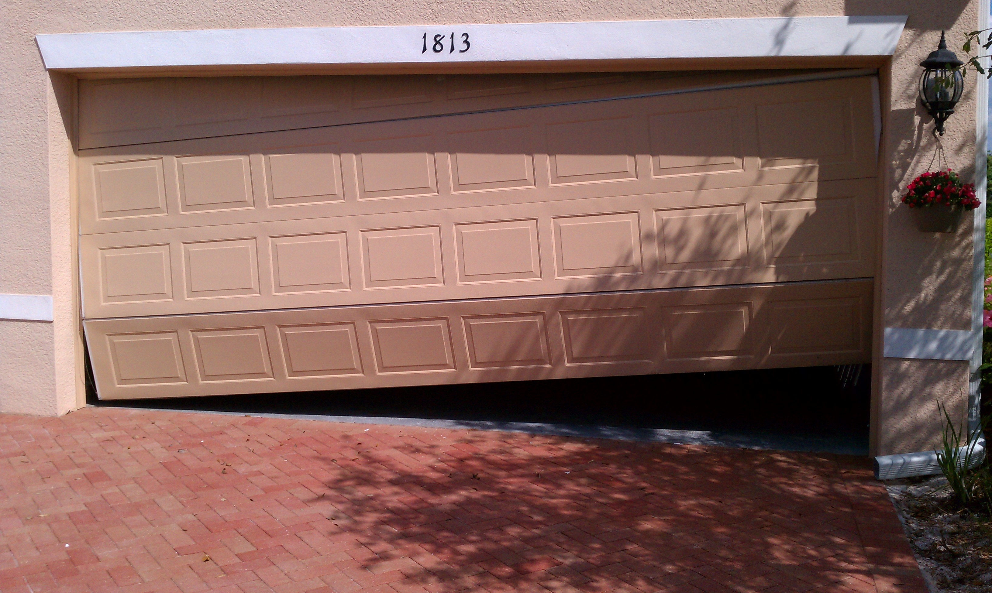 Charming Out Of Place Garage Door